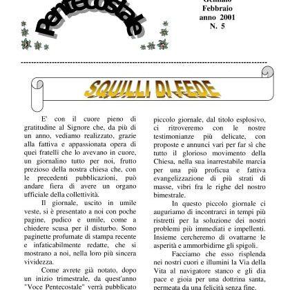N. 5 | Anno 2001